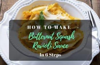 Butternut Squash Ravioli Sauce