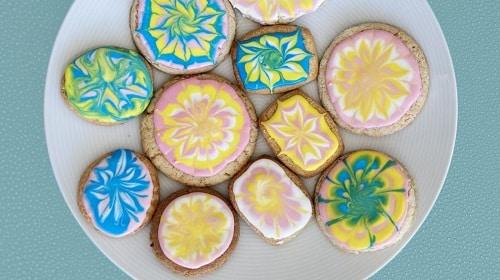 Mini Tie-Dyed Sugar Cookies